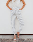 Klara Pocketed Tie Pants - FINAL SALE