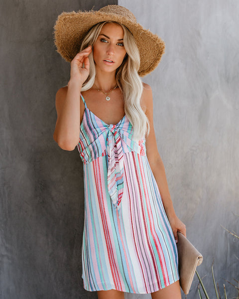 Knot Today Striped Sundress