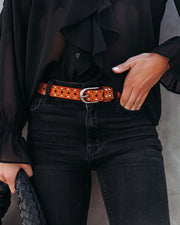 Lagoon Studded Faux Leather Belt