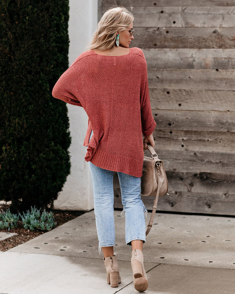 Laid Back Knit Sweater - Ginger - FINAL SALE
