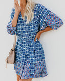 Lalaria Printed Button Down Dress - FINAL SALE