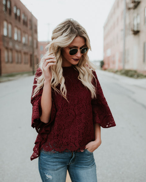 Wing It Lace Blouse