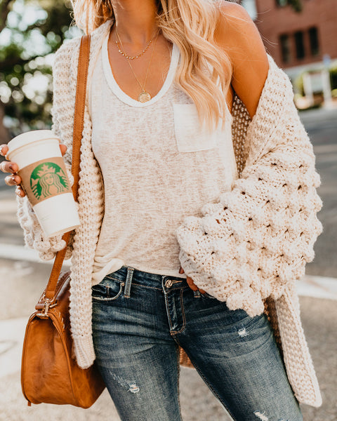 Latest + Greatest Knit Cardigan - Cream