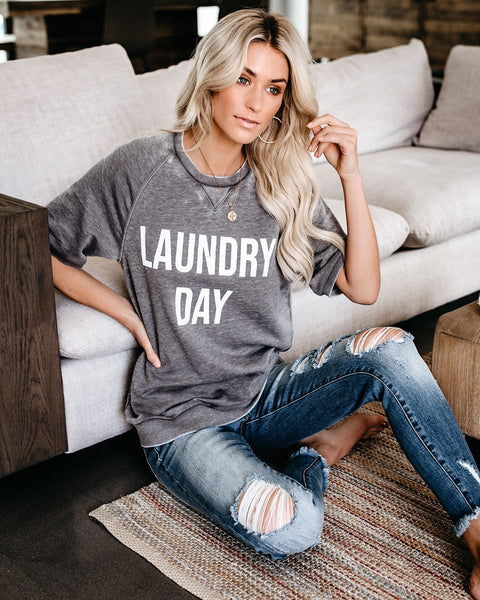 Laundry Day Premium Cotton Blend Top - FINAL SALE