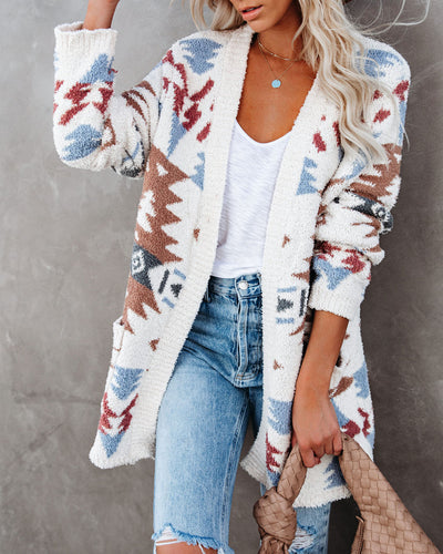 La Vie Boheme Pocketed Knit Cardigan