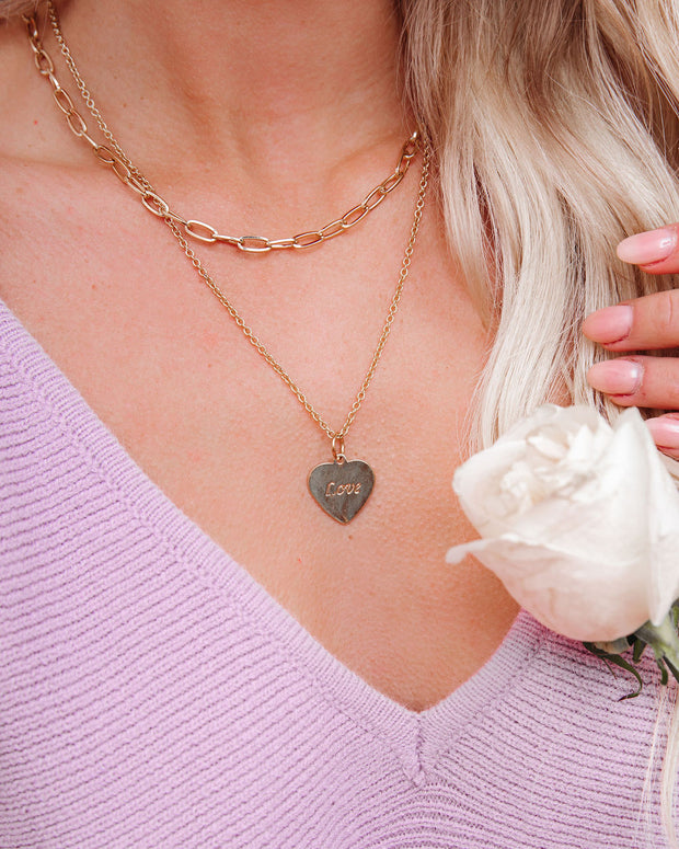 Layers Of Love Tag Necklace