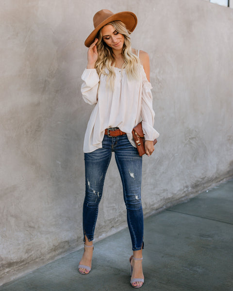 Lead Me On Off The Shoulder Top - Cream