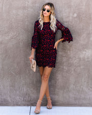 Leavenworth Crochet Lace Bell Sleeve Dress - FINAL SALE