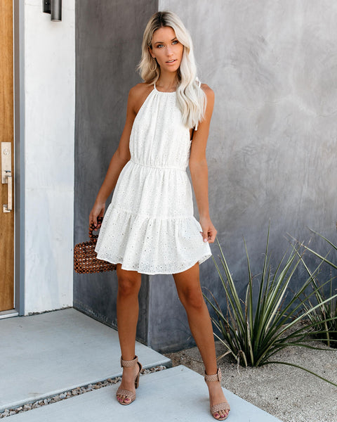 Legally Blonde Eyelet Halter Sundress - FINAL SALE