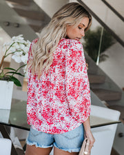 Leilani Floral Babydoll Blouse - FINAL SALE