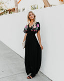 Leisure Valley Embroidered Maxi Dress