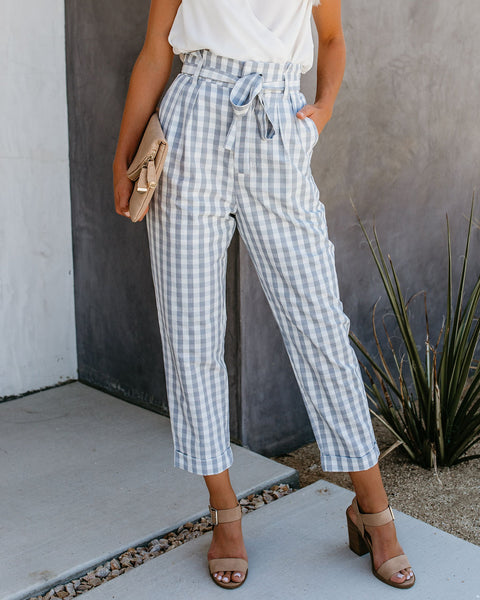 Let Me Check Gingham Pocketed Trousers - FINAL SALE