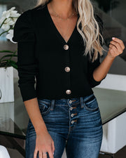 Leone Puff Sleeve Crop Cardigan
