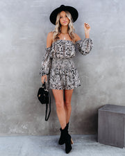 Leonie Smocked Off The Shoulder Paisley Romper