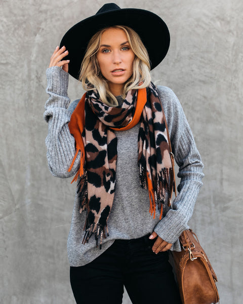 PREORDER - Leopard Is The New Black Blanket Scarf