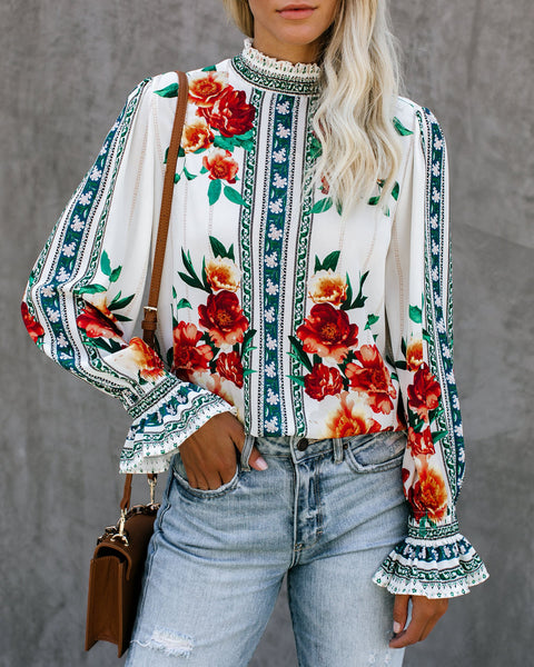 Let Love Grow Floral Blouse - FINAL SALE