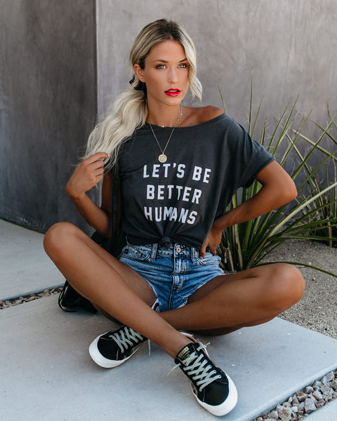 Let's Be Better Humans Cotton Tee