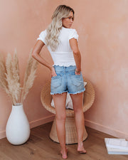 Let The Breeze In Smocked Ruffle Crop Top - Ivory  - FINAL SALE view 6