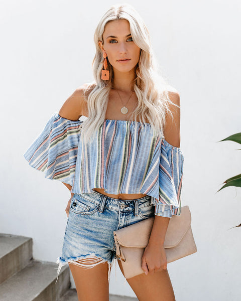 Life's A Beach Off The Shoulder Top- FINAL SALE