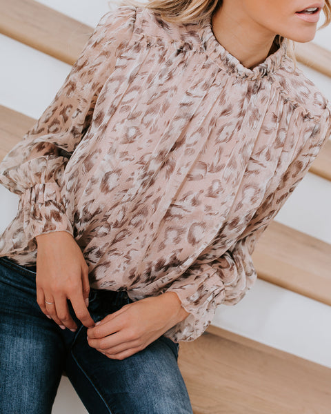 Light As A Feather Chiffon Blouse - Blush