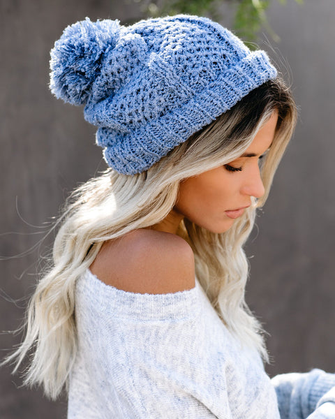 Light My Fire Pom Beanie - Blue