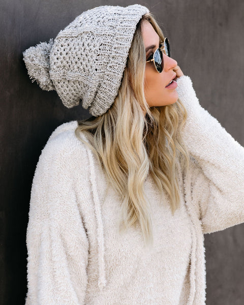 Light My Fire Pom Beanie - Grey