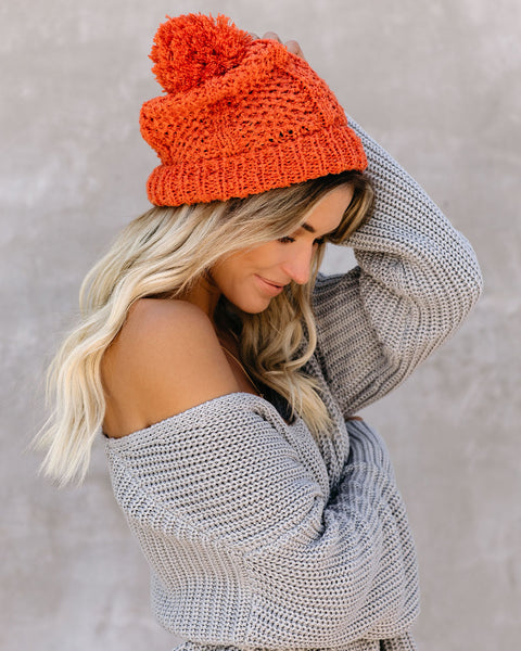 Light My Fire Pom Beanie - Tangerine