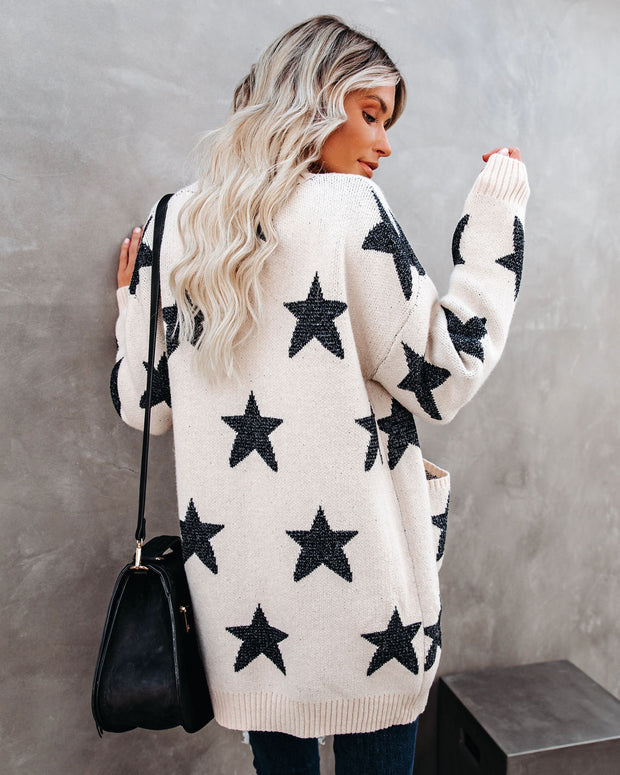 Light Up The Night Pocketed Knit Cardigan