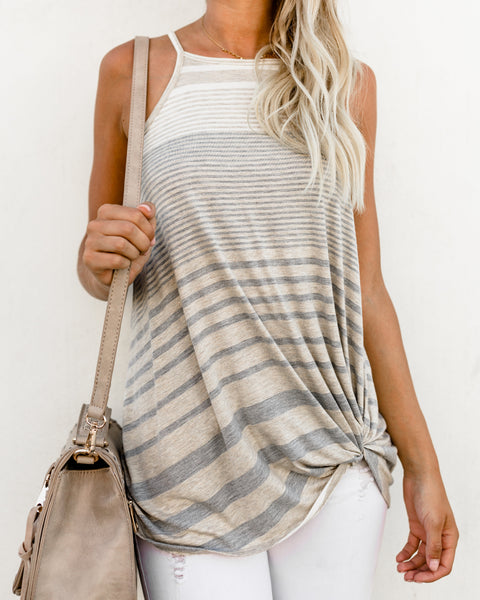 Like Me Or Knot Striped Tank
