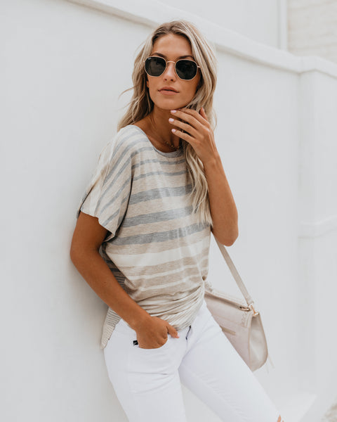 Like Me Or Knit Striped Top