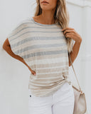 Like Me Or Knot Striped Top