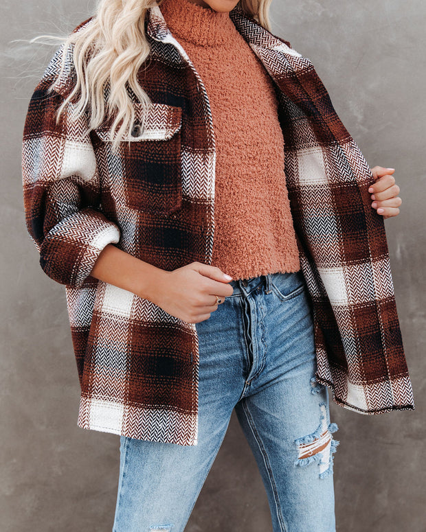 Liles Plaid Button Down Wool Blend Shacket