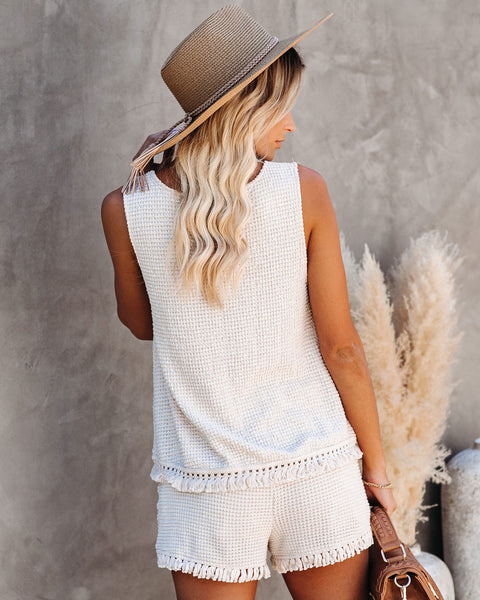Lily High Rise Knit Tassel Shorts