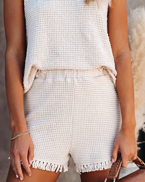 Lily High Rise Knit Tassel Shorts- FINAL SALE