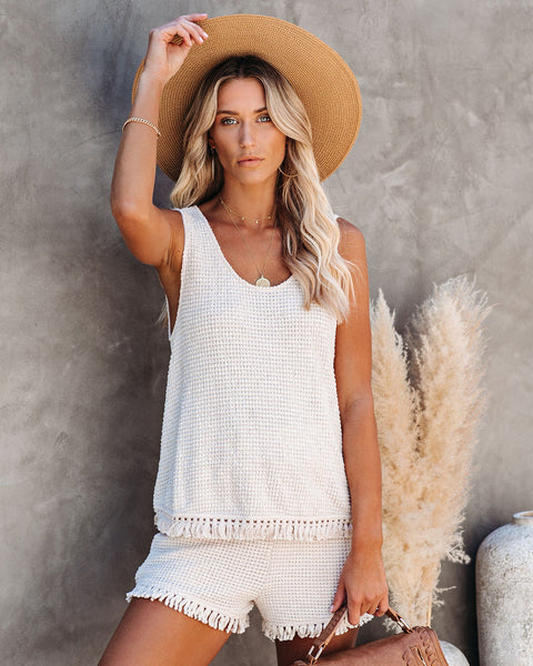 Lily Knit Tassel Tank - FINAL SALE