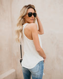Limited Edition Cotton Racerback Tank - Cream