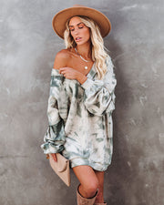 Linda Oversized Cotton Blend Tie Dye Pullover