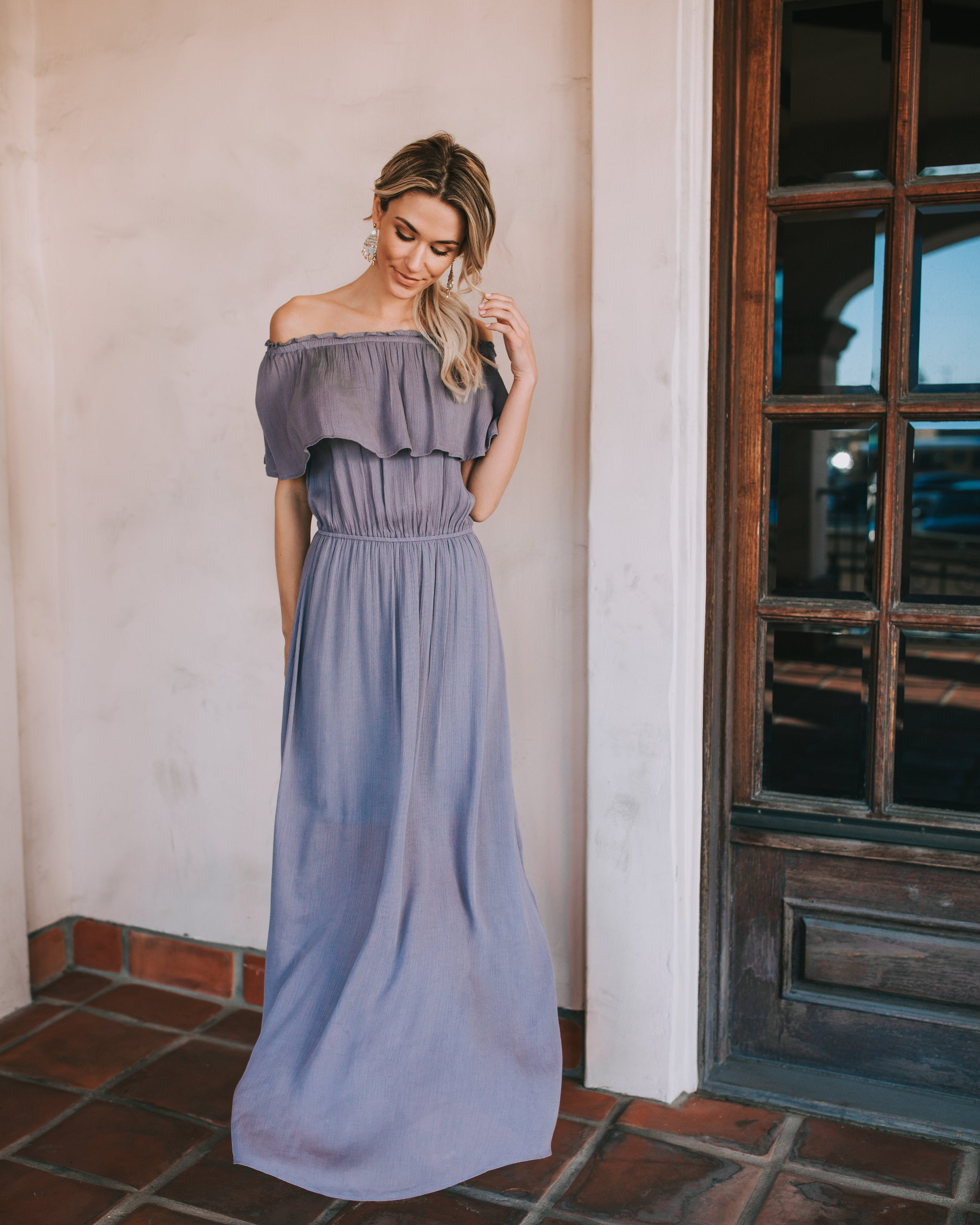 Little Italy Off The Shoulder Maxi Dress