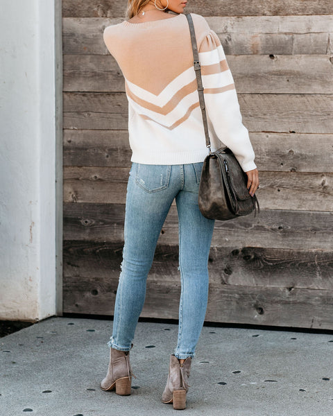 Live And Learn Chevron Sweater - FINAL SALE