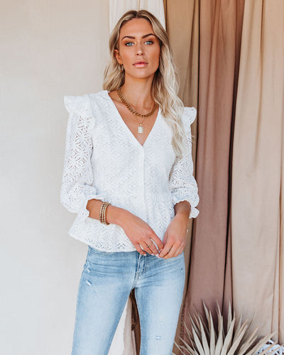 Live Learn Love Lace Peplum Top