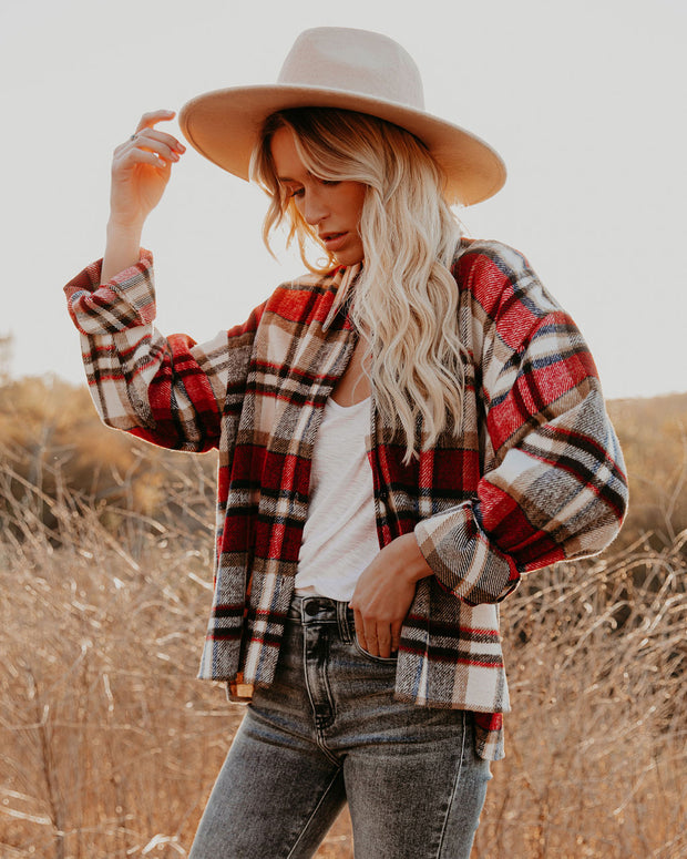 Liverpool Plaid Button Down Shacket