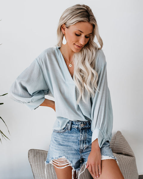 Long Walks On The Beach Blouse - Waterlily