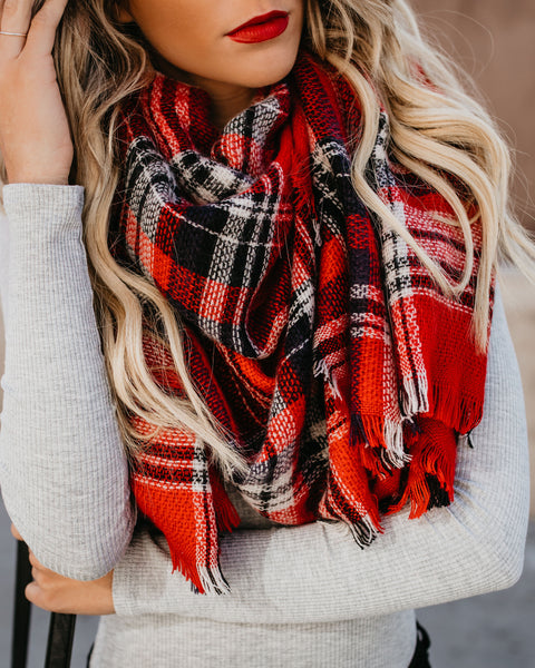 Long Walks Plaid Blanket Scarf