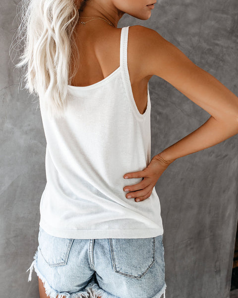 Look Out Knit Tank - Off White