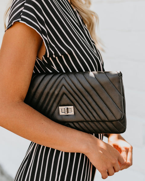 Lorell Crossbody Clutch - Black