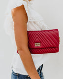 Lorell Crossbody Clutch - Burgundy