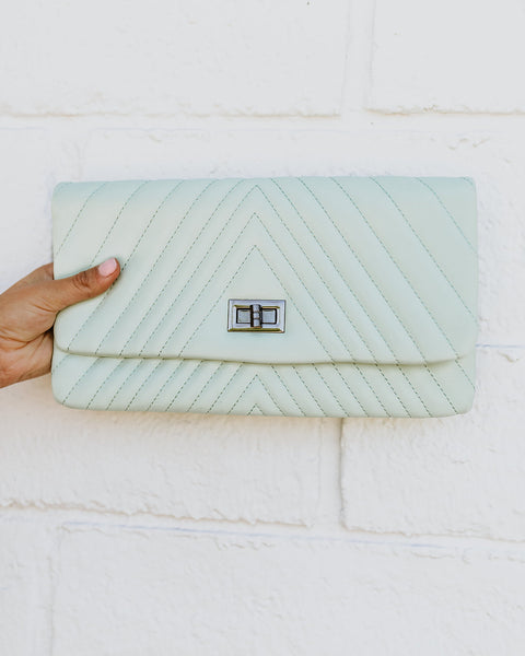 Lorell Crossbody Clutch - Mint