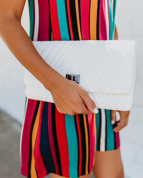 Lorell Crossbody Clutch - White