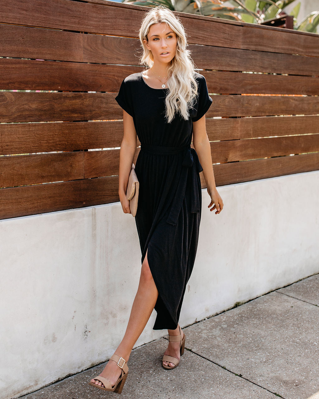 cf6ca987c45 Loss For Words Knit High Low Maxi Dress - Black – VICI
