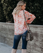 Lotus Floral Blouse - FINAL SALE
